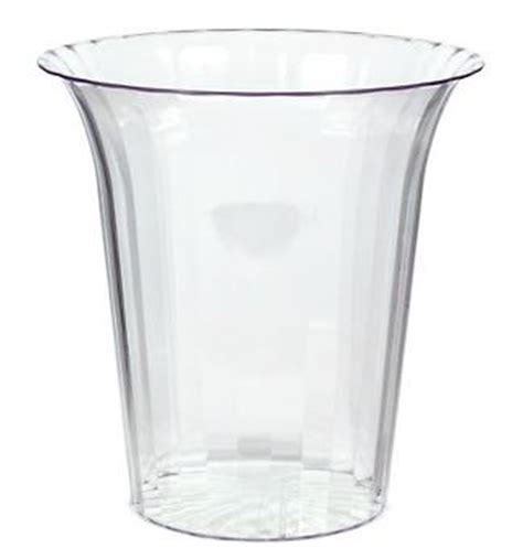 buffet containers plastic small clear plastic flared cylinder container for