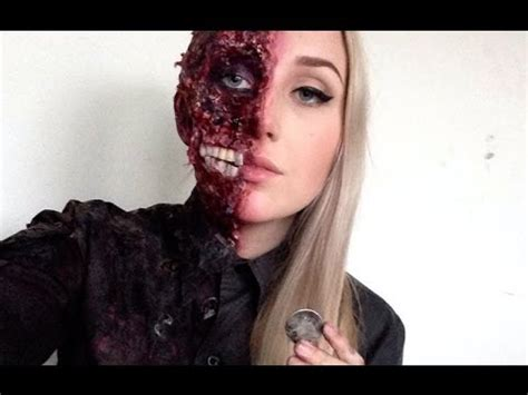 fx tutorial makeup harvey dent two face special fx makeup tutorial