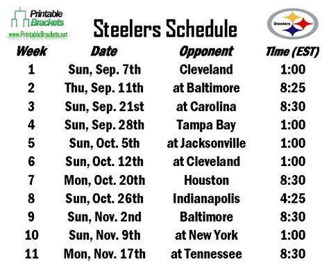 printable steelers schedule 2015 2015 2016 nfl schedule steelers calendar template 2016