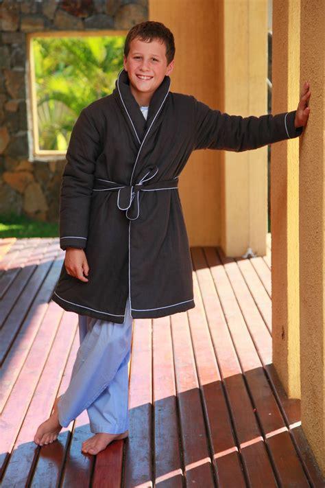 robe de chambre garcon anthracite etoile l orangerie