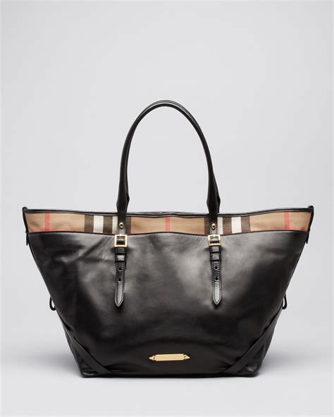 Burberry Tote lyst burberry tote bridle house check medium salisbury