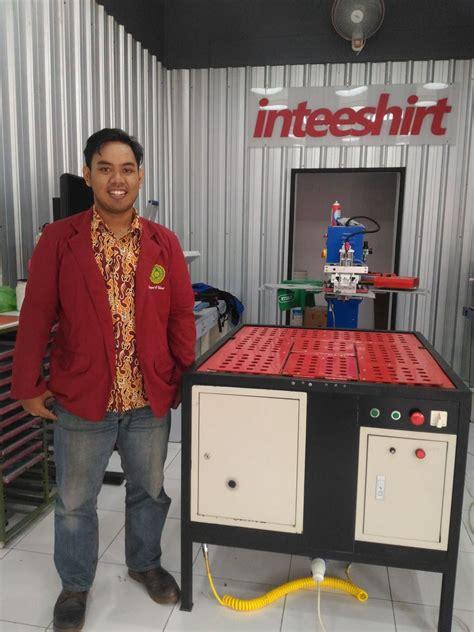 Mesin Pelipat Baju produk buatan mahasiswa umy digunakan oleh perusahaan kaos universitas muhammadiyah yogyakarta