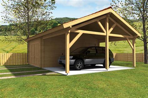 garage construction bois plan de carport en bois maison design wiblia