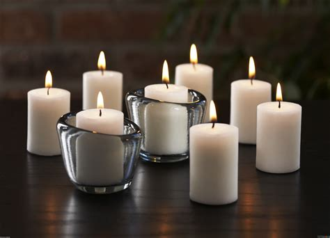 White Candles Lit White Candles Wallpaper 18345 Open Walls