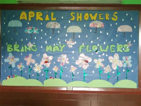educational themes for april april showers bring may flowers spring bulletin board