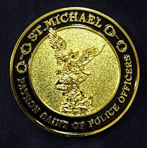 Patron Of Officers by St Michael Patron Of Officers Challenge Coin