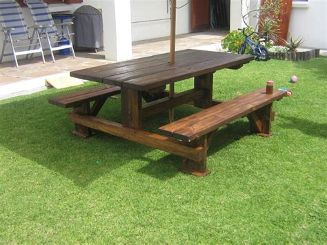 Backyard Creations Desert Pines Table Stained Pine Table Bench Forest Creations