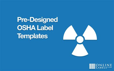 Pre Designed Osha Label Templates Onlinelabels Com Osha Secondary Container Label Template