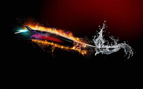 flaming wolf  water hd   abstract wallpapers