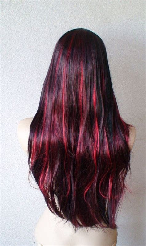 haircolor styles withn burgundy accents burgundy highlights for dark hair hair colors styles i