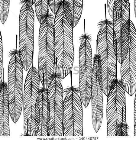 black and white feather pattern seamless white feathers stock photos images pictures