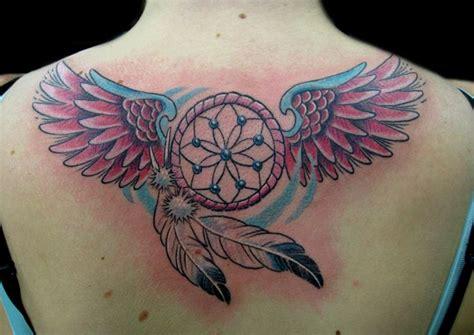 tattoo dreamcatcher butterfly black butterfly and dreamcatcher tattoo on upper back