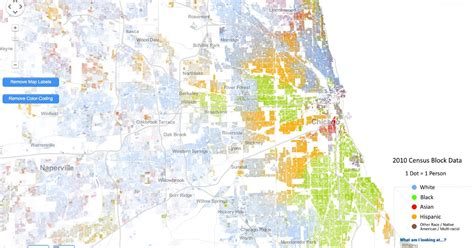 chicago map by race incredibly detailed map shows race segregation across