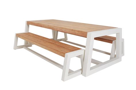 patio table bench chunky garden furniture uk modern patio outdoor