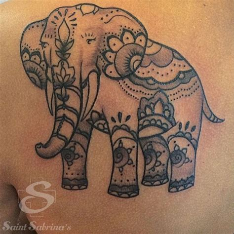 saint sabrina s tattoo elephant by dees sabrina s piercing