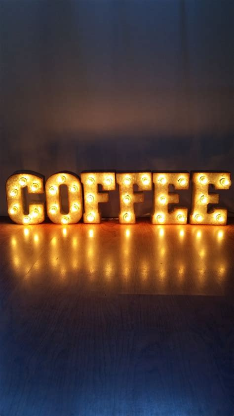 Metal Marquee Sign 7 Coffee Marquee Lights Marquee Lights