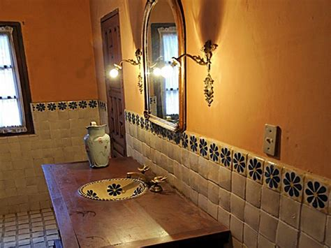 rustic restaurant decor ideas mexican style bathroom