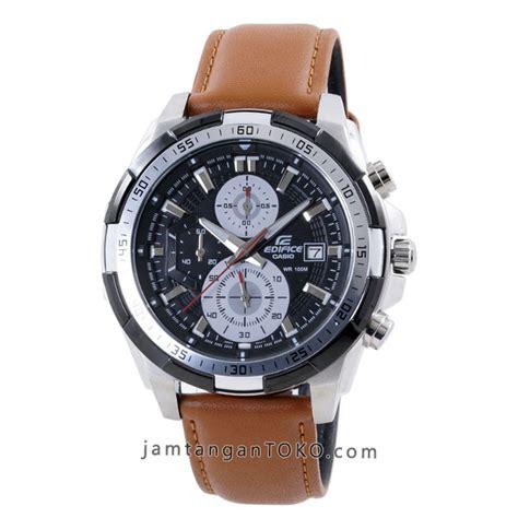 harga sarap jam tangan edifice efr 539l 1bv kulit coklat clone original