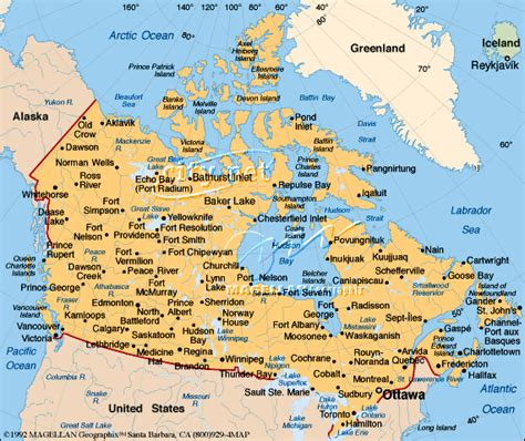 map of south canada canada map