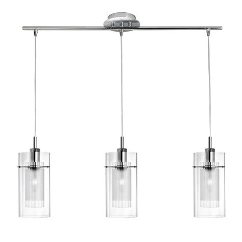 3 In 1 Pendant Lighting Searchlight Duo 1 3 Light Pendant With Clear Frosted Glass 3303 3cc Searchlight From The