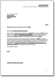 Brief Mängelrüge Wohnung Archiv Rechtliches 187 Dokumente Vorlagen