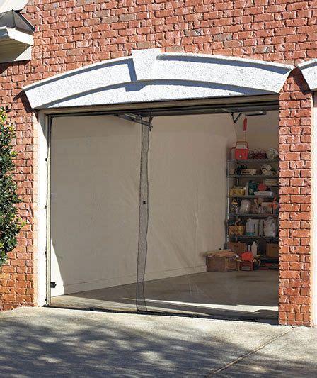 Garage Door Mesh Screen New Single Garage Mesh Screen Door W Magnetic Closure Keeps Mosquitos