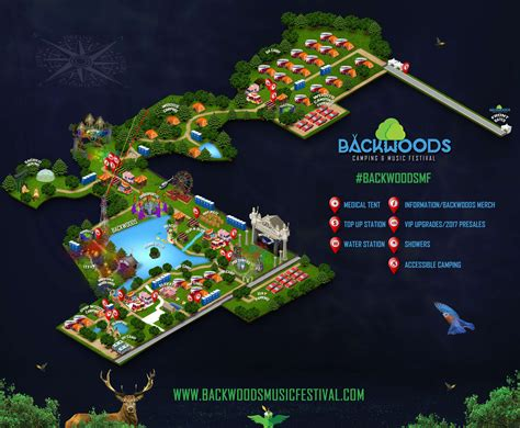 festival directions backwoods festival map of the venue