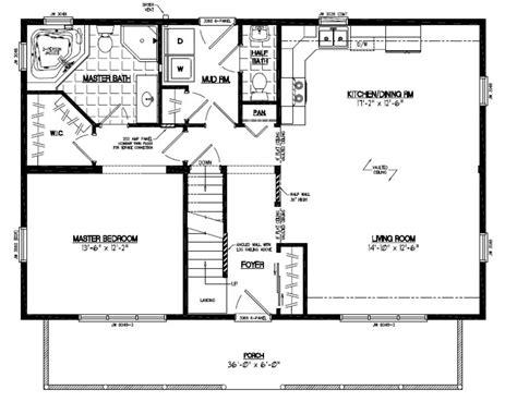 Floor Plan Mountaineer Deluxe Floor Plan 26md1403 26 26 X 36 House Plans