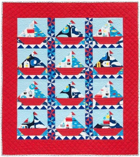 quilt pattern message in a bottle sailing quilt and robert kaufman fabric on pinterest