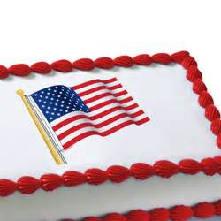 amerikanischer kuchen american flag edible image cake decoration