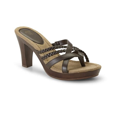 route 66 s zara brown wedge sandal shoes s