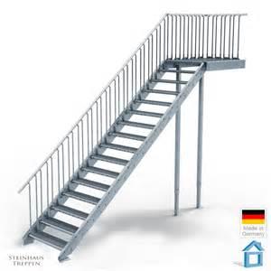 steinhaus treppen au 223 entreppe stahl mit 16 steigungen 100 cm stufenweite mit