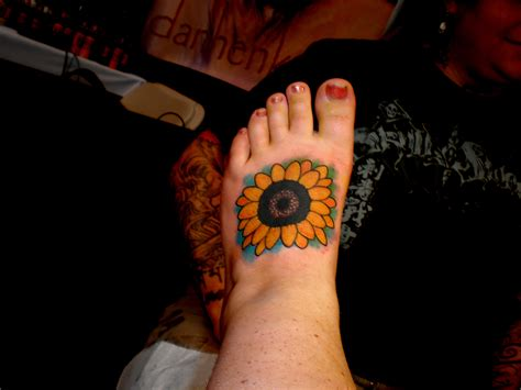 sunflower foot tattoo sunflower tattoos designs ideas and meaning tattoos for you