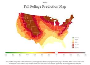 foliage map catch peak leaf changing weekend with this prediction map cnet
