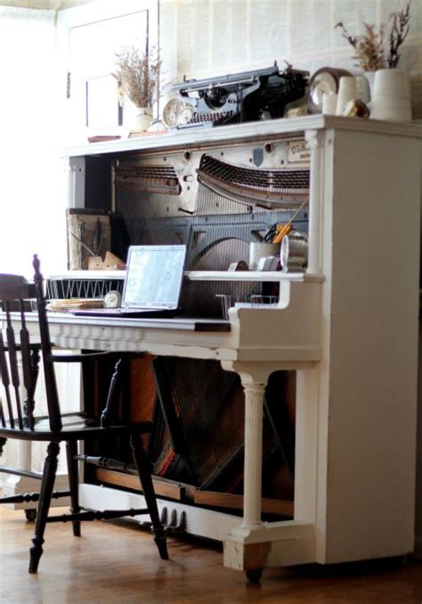 amazing desks turn an antique piano into an amazing desk