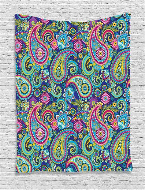 Paisley Pattern Wall Art | paisley pattern bohemian home decor gypsy style design art