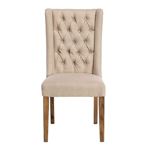 kipling fabric dining chair cream and oak