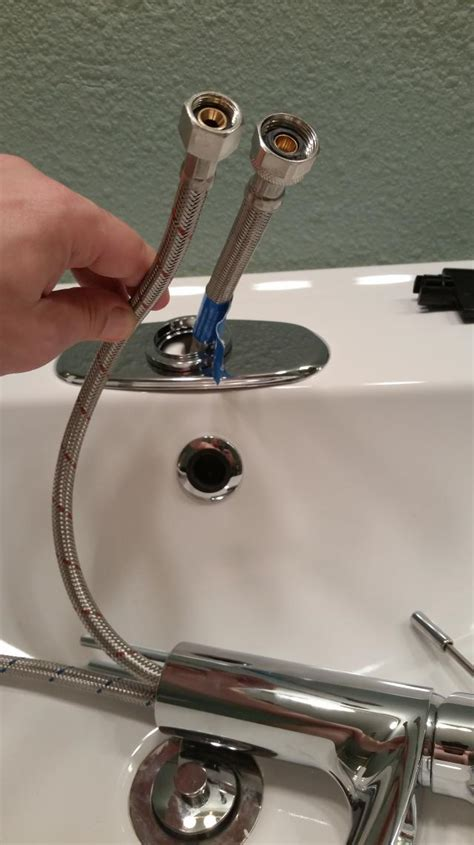 Kitchen Sink Supply Lines Water Connect 1 2 Quot Supply Line To 3 8 Quot Outer Diameter Faucet Line Home Improvement Stack