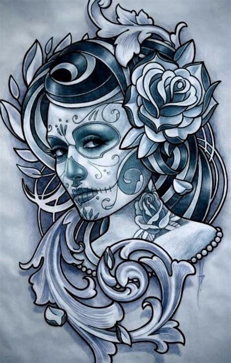 tattoo lettering jm camisetas art chicana tatoo face flowers girl
