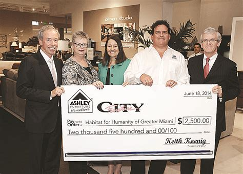 Donate Furniture Miami by City Furniture Makes Donation To Help Habitat For Humanity