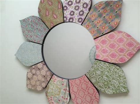 flower pattern wall mirror large round stargate mirrored section wall mirror