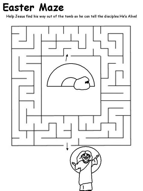 printable mazes christian religious easter maze my site daot tk