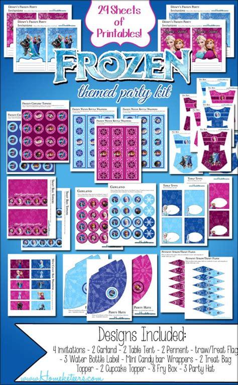 printable frozen party frozen party printables big kit