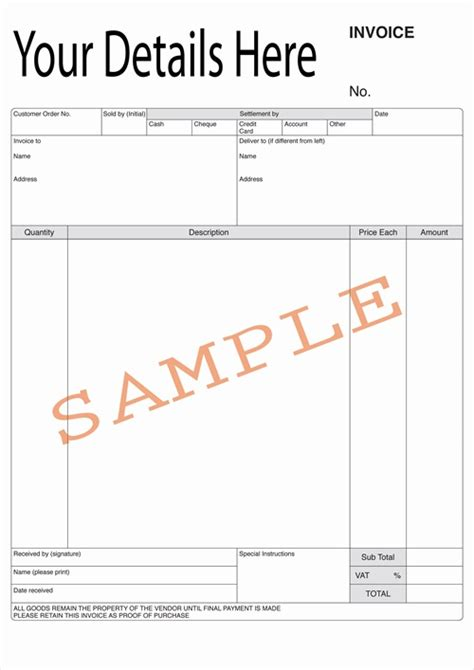 invoice receipt template uk duplicate design bespoke duplicate books and pads