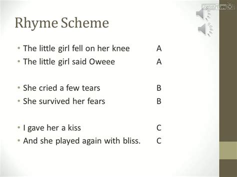 pattern of rhyme exles 9th eng lit rhyme scheme schooltube