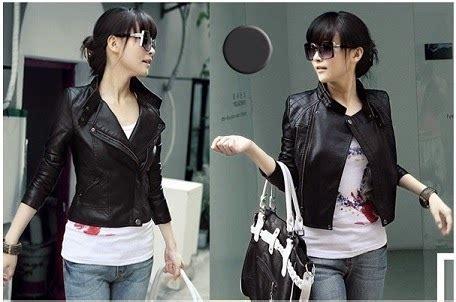 Jaket Bb Cewek By Fidhe Shop jaket kulit wanita korean style cervin shop