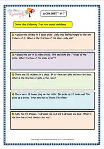 grade 3 maths worksheets 7 9 fraction word problems