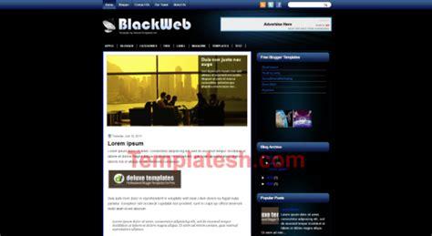 blackweb blogger template templatesh