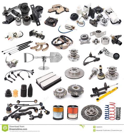 Auto Teile by Set Autoteile Lizenzfreies Stockfoto Bild 16829375