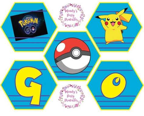 printable pokemon birthday banner 17 best images about pokemon printables on pinterest